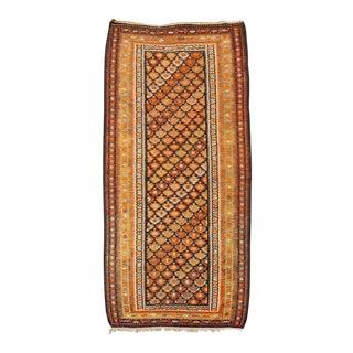 Antique Persian Veramin Large Orange Floor Rug - 4'9'' X 9'8'' For Sale