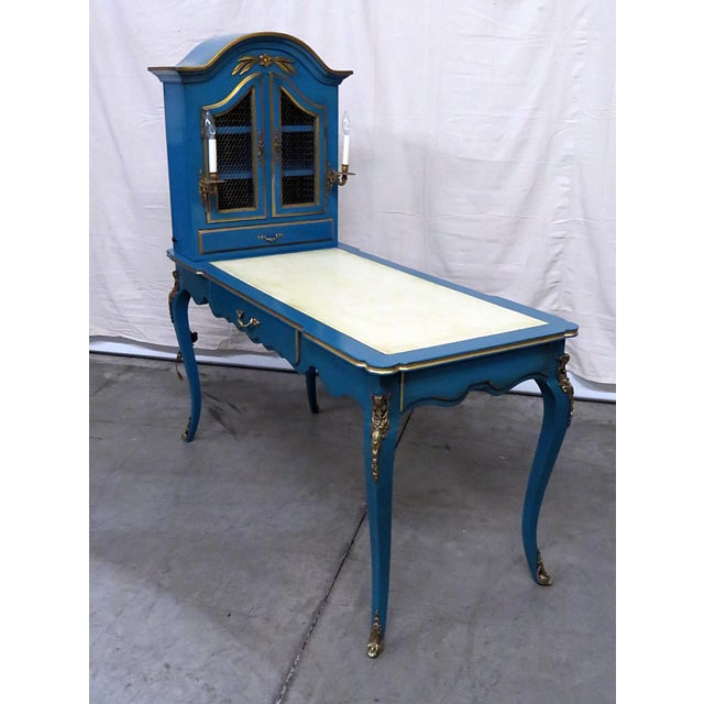 Louis XV Style Leather Top Cartonnier Desk For Sale - Image 10 of 10