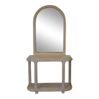 Console & Mirror For Sale