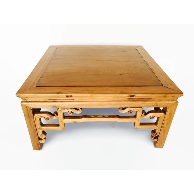 Wood Vintage Carved Chinese Tibetan Coffee Table For Sale - Image 7 of 11