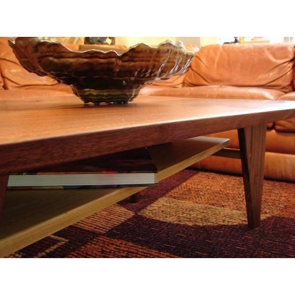 Mid Century Modern Walnut Slab Coffee Table - Image 4 of 7