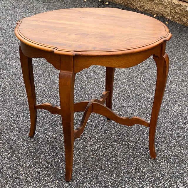 French Country Ethan Allen Country French Side Table For Sale - Image 3 of 12