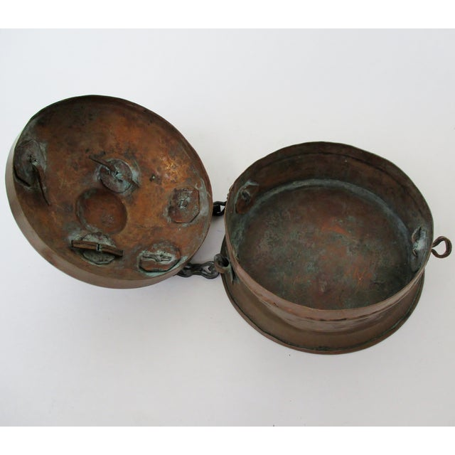 Metal Antique Spice Box For Sale - Image 7 of 11