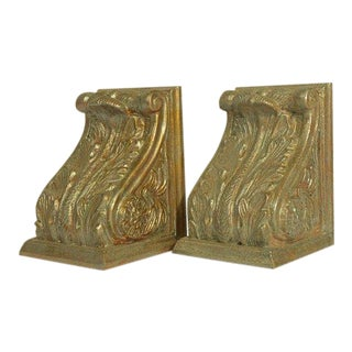 Vintage Mid Century Cornice Bookends - A Pair For Sale