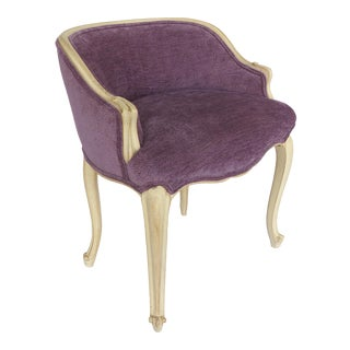 Louis XV Style Painted Vanity Stool Upholstered in Donghia Fabric For Sale