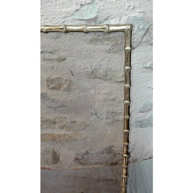 Art Deco 1940s French Art Deco Maison Bagues Bronze Fireplace Screen - Bamboo For Sale - Image 3 of 11
