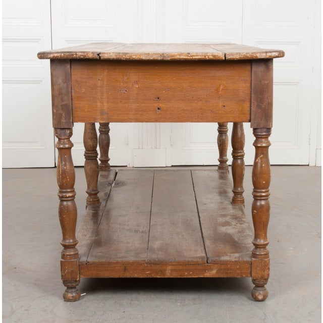 Late 19th Century French 19th Century Painted Drapery Table For Sale - Image 5 of 13