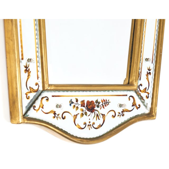Vintage French Eglomisé Mirror For Sale In Austin - Image 6 of 10