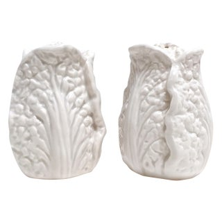 Fitz & Floyd White Cabbage Shakers - A Pair