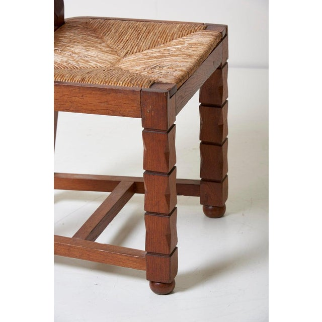 Set of Six Wooden Chairs by Jacques Mottheau, France, 1930s For Sale - Image 11 of 13