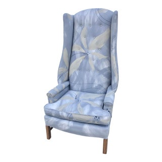 Directional Furniture Mid Century Tall High Back Wing Chair For Sale