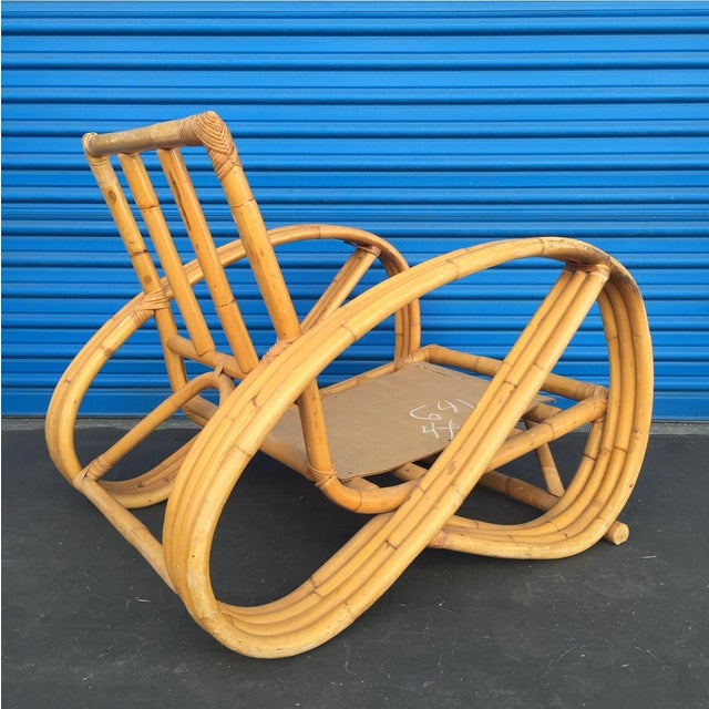 Heywood Wakefield Curved Arm Rattan Lounge Chair - Image 3 of 5