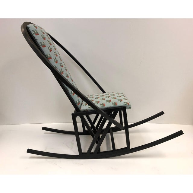 Asian Unique Japanese Rocking Chair For Sale - Image 3 of 7