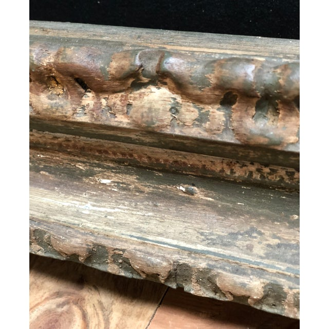 Large and Impressive Antique Italian Carved Frame in the Baroque Style For Sale - Image 11 of 12