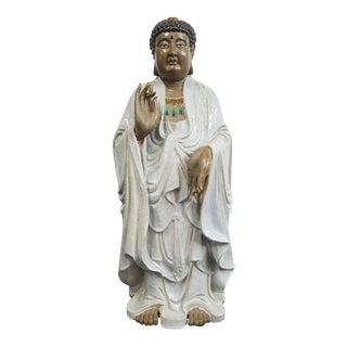 Glazed Ceramic Buddha Statue