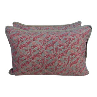 Richelieu Patterned Fortuny Pillows - A Pair
