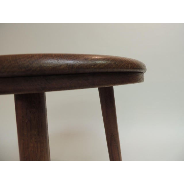 Vintage Round Mid-Century Modern Low Stool or Table For Sale - Image 4 of 5