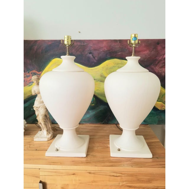 Late 20th Century Kostka Ceramic Lamps - a Pair For Sale - Image 13 of 13