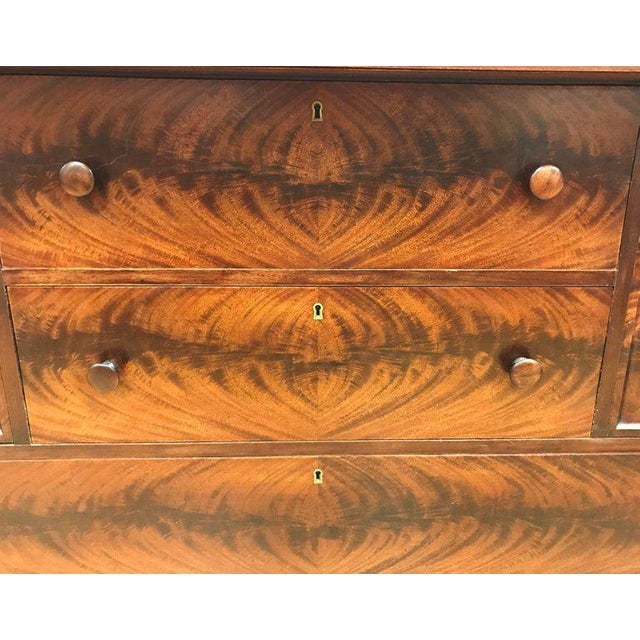Empire Flame Mahogany Server Credenza Sideboard Buffet For Sale In New York - Image 6 of 9