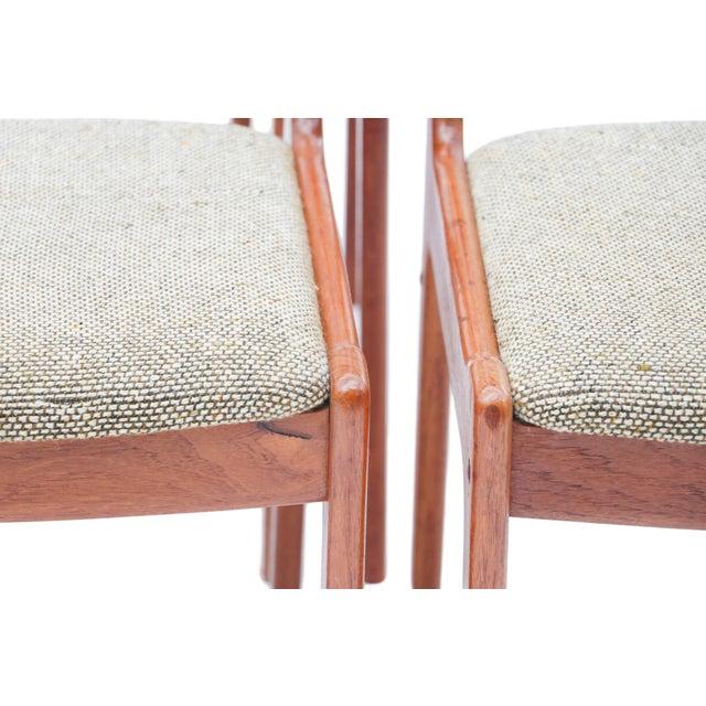 Scandinavian Danish Modern Teak Dining Chairs- S/6 - Image 8 of 10