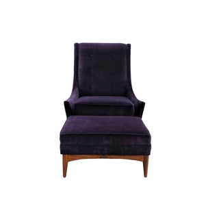 Paul McCobb Style Lounge Chair & Ottoman Preview