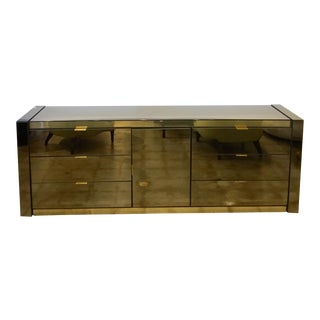 Ello Smoked Glass and Mirror Dresser For Sale