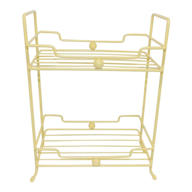 20th Century Comtemporary Yellow Strawflower Metal Rack For Sale