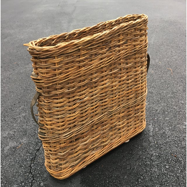 Vintage French Champagne Handled Basket - Image 5 of 5