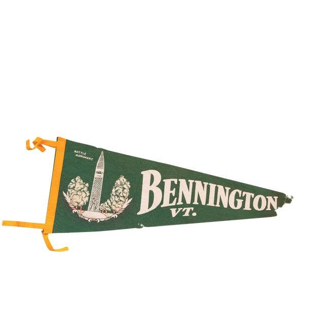 Large Green Bennington Vermont Felt Flag - Image 1 of 3