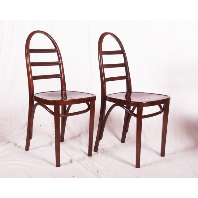 Art Deco beechwood chair by Thonet, 1919 For Sale - Image 5 of 9