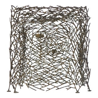 "Richard Filipowski Metal Sculpture ""Cube"" For Sale"