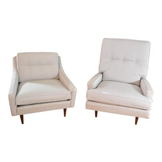 1950s Milo Baughman for James Inc. Lounge Chairs - Set of 2 For Sale