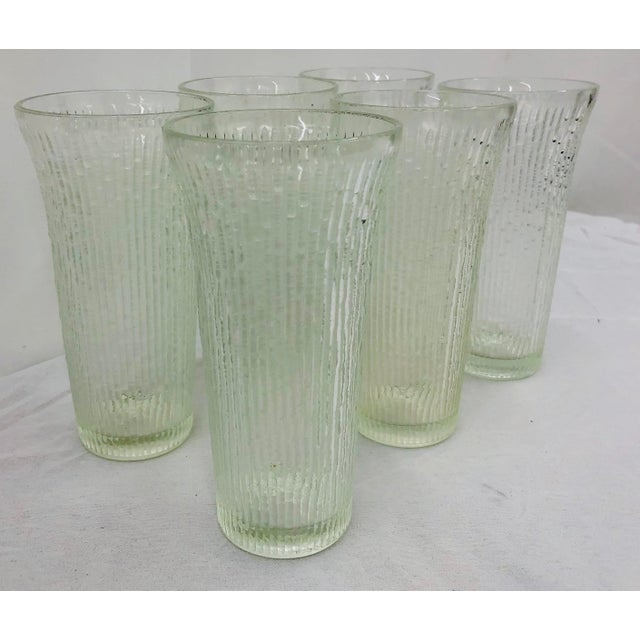 Anchor Hocking Vintage Faux Bamboo Style Cocktail Tumbler Highball Glasses - Set of 7 For Sale - Image 4 of 11