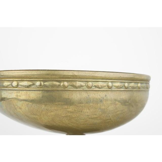 Vintage Brass Pedestal Bowl - Image 9 of 11
