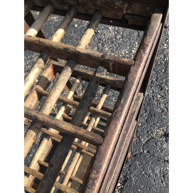 Antique Industrial Rolling Cart With Shelves For Sale - Image 12 of 13