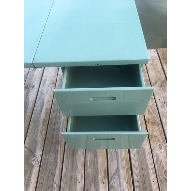 Mid 20th Century 20th Century Industrial Aluminum Military Campaign Tanker Desk For Sale - Image 5 of 12
