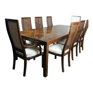 Henredon Scene One Dining Table With Eight Chairs For Sale