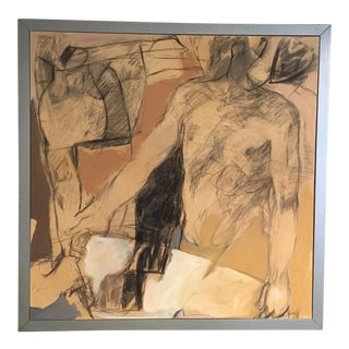 """""""Male Figures"""" Oil on Canvas by Georges Gangloff For Sale"""