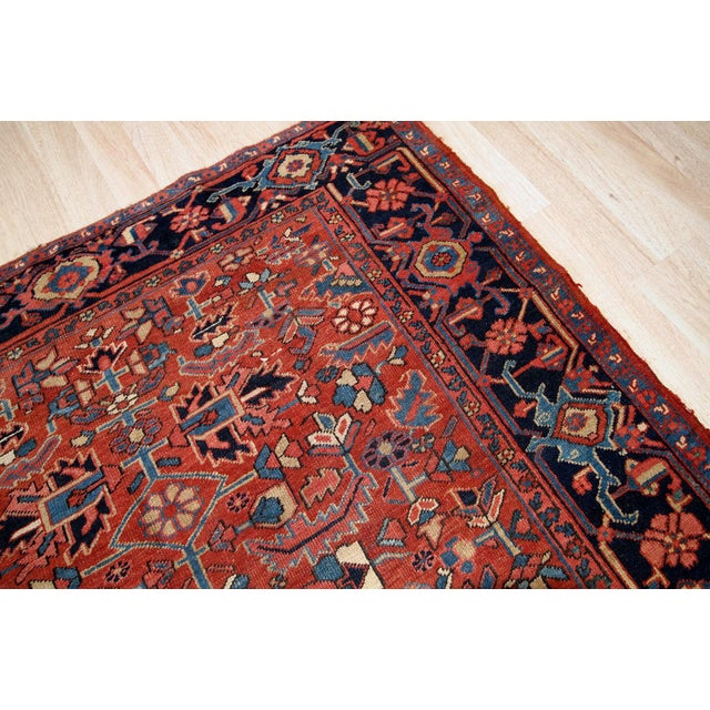 Traditional 1900s, Handmade Antique Persian Heriz Rug For Sale - Image 3 of 11