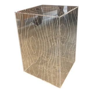 Gus Modern Timber Acrylic Side Table For Sale
