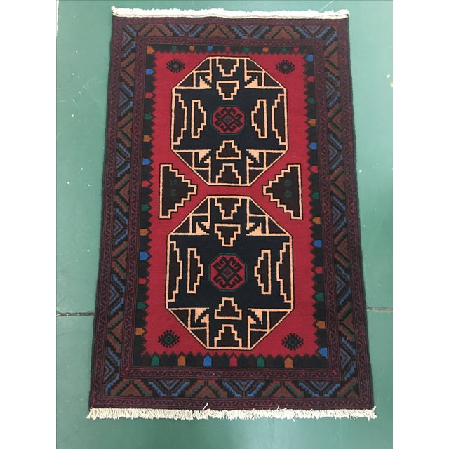 Oriental Hand-Knotted Wool Rug - 2′11″ × 4′6″ - Image 2 of 6