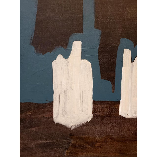 Contemporary Contemporary Painting of Desert Ruins at Night by Artist Lionel Lamy For Sale - Image 3 of 6