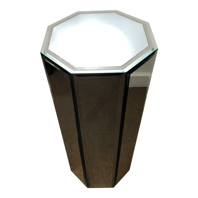Mid-Century Modern Mirrored Pedestal For Sale
