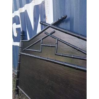 King Size Black Faux Bamboo Headboard Preview