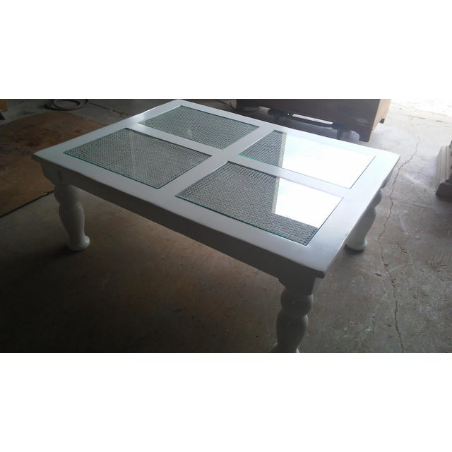 Cane & Glass Coffee Table - Image 4 of 4