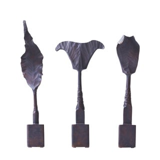 Trio of Bronze Mid Century Brutalist Sculptures For Sale