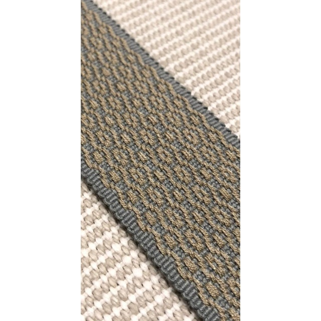 This modern gray and gold fabric trim makes a beautiful embellishment on drapes, pillows, or furniture. Pricing is firm,...