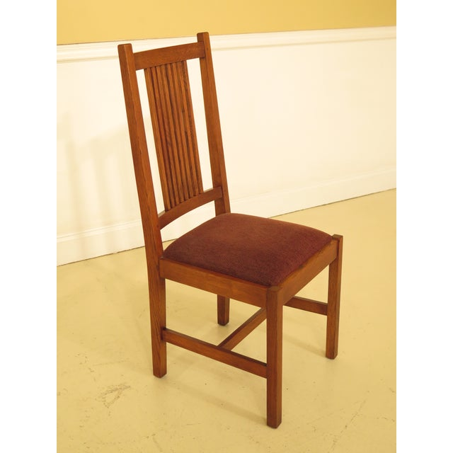 2000s Stickley Mission Oak Dining Room Chairs - Set of 4 For Sale - Image 5 of 13
