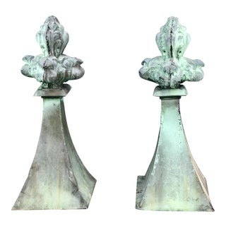 French fleur-de-lis Finials For Sale