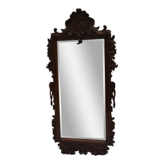 Carved French Oak Mirror For Sale